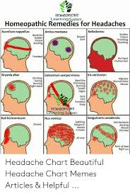 Headache Chart Homeopathy Learning System Homeopathic Remedies For