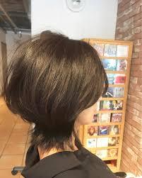 大人ショートボブ 手ぐしで簡単に決まるヘアスタイル 大人っぽい