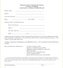 Request For Medical Records Form Template Medical Records Form For Blank Release Of Information