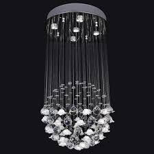 rock crystal chandelier glass led pendant lights