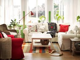 Patterned Chairs Living Room Ikea Living Room Ideas Gray Carpet On The Laminate Wooden Floor