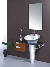 Wall Bathroom Faucet Small Wall Mount Bathroom Sink Dark Khaki Futuristic Shower Chrome