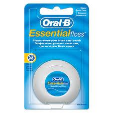 "<b>Зубная нить Oral</b>-<b>B</b> ""<b>Essential</b>"", вощеная, мятная, 50м купить оптом"