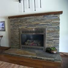 fireplace surround tile tiles glass white