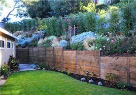 retaining wall ideas fence walls wood with