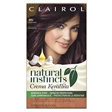 Clairol Natural Instincts Crema Keratina Hair Color Kit Burgundy 4rv Eggplant Creme