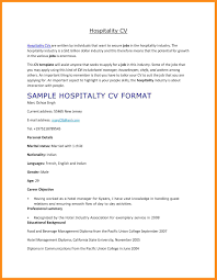 Resume Format For Hotel Job Resume Format Hotel Industry Resume For Study 16