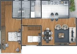 Planta de casa com 2 quartos. 10 Plantas De Casas Terreas Com 2 Quartos Para Voce Se Inspirar Construindo Casas