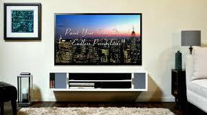 wall mounted flat screen tv cabinet bathtub showerbination house interior paint ideas