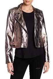 blanknyc denim metallic faux leather moto jacket pewter uzwd6989