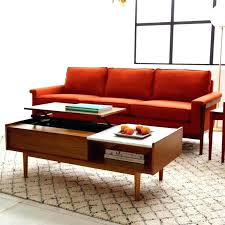 mid century round coffee table coffee table media mid century coffee table pop up storage west