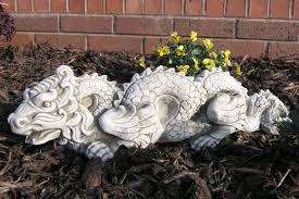 oriental concrete dragon statue