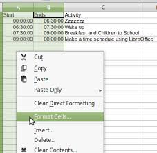 Make A Time Schedule Libreoffice Tutorial Make A Time Schedule Part 1 Naming Sheet