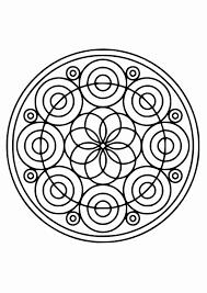 Mandala Tekeningen Mooi Kleurplaat Mandala 21 Kinderen Leren Terwijl