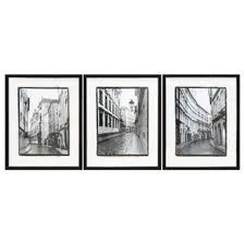 black and white framed wall art set