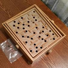 Vintage Wooden Board Games Find more Vintage Wooden Labyrinth Maze Game for sale at up to 100% off 28