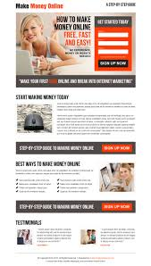 custom landing page design landing page design templates example make money online clean and effective sign up lead capture responsive landing page design