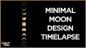 Graphic Design Timelapse Phases Of The Moon Graphic Design Speed Art Timelapse