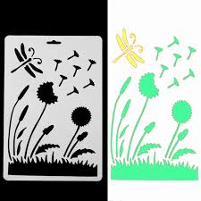 plastic letter stencil templates simple dandelion pattern stencils for wall painting diy sbooking