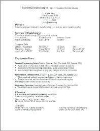 Functional Resume Template Word Filename – Magnolian Pc