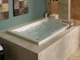 ... Bathtubs Idea, Soaker Bathtubs 2 Person Soaking Tub Drop In Whirpool  Jacuzzi With Grey Surrounding ...