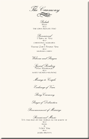 Ceremony Template Sample Wedding Ceremony Program Magdalene Project Org