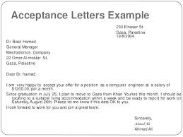 Accept Offer Letter Reply Mail To Accept Offer Letter Designtruck Co