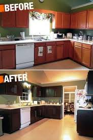 painted brown kitchen cabinets before and after. A New Coat Of Paint Can Transform Your Kitchen Cabinets With Very Little Expense. This Painted Brown Before And After
