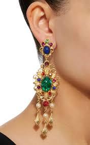 crystal chandelier earrings lyst view fullscreen