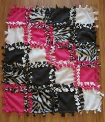PERSONALIZED/MONOGRAM/CUSTOM Hot Pink/Zebra No Sew Tie Baby ... & PERSONALIZED/MONOGRAM/CUSTOM Hot Pink/Zebra No Sew Tie Baby Blanket/Quilt  30x35 Adamdwight.com