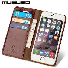 genuine leather wallet case for iphone 7 plus 6 plus 6s 5 5s se 4