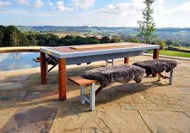 outdoor korean bbq grill table designs