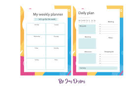 Monthly And Weekly Planners Create Any Style Of Daily Weekly Monthly Planner
