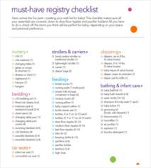 list of items needed for baby baby registry checklist templates 12 free word excel pdf