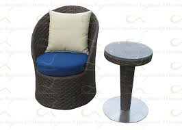 round shape alfresco furniture outdoor rattan wicker chairs with side table