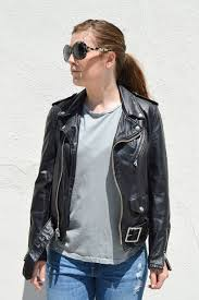 schott nyc vintaged boyfriend fit leather motorcycle jacket more colors