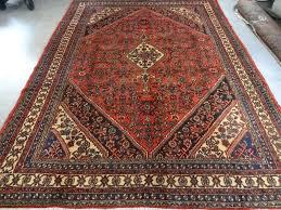 persian handmade wool mahal bidjar red black blue