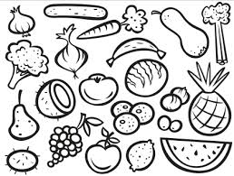 Small Picture Fruit And Vegetable Coloring Page FunyColoring