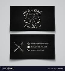 Business Card Template For Restaurant Royalty Free Vector