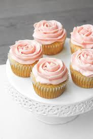 Mothers Day Vanilla Cupcakes With Rose Petal Buttercream Icing
