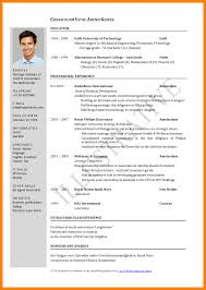 Newest Resume Format Cv Formats Contact Formatting New Curriculum