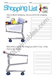 How To Make A Grocery List Making A Grocery List Worksheet Magdalene Project Org
