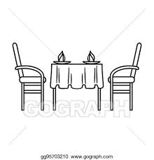 restaurant table clipart. Simple Table Restaurant Table Icon In Outline Style Isolated On White Background  Symbol Stock Bitmap Rastr Illustration To Table Clipart N