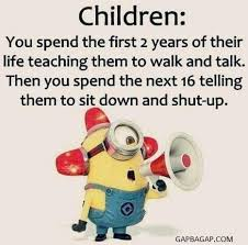 kid funny joke with minions