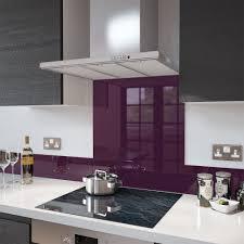 Kitchen Glass Splashback Deep Purple Colour Toughened Glass Splashback 70cm X 75cm Deep