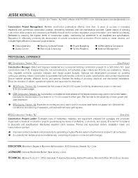 Construction Operation Manager Resume Resume For Construction Manager Mwb Online Co