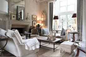 Vintage French Living Room Decorated With Neutral Color Schemes And Awesome French Living Rooms