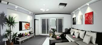 lighting design living room. Modern Minimal Lounge Lighting. Simple Lighting Design For Gray Minimalist Living Room I