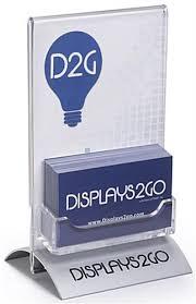 4 X 6 Sign Display With Custom Logo Business Card Pocket