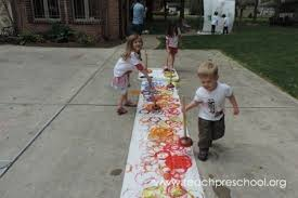 outdoor activities for preschoolers. Take The Plunge And Try Plunger Painting! By Teach Preschool Outdoor Activities For Preschoolers A